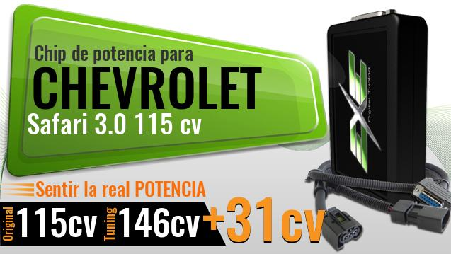 Chip de potencia Chevrolet Safari 3.0 115 cv