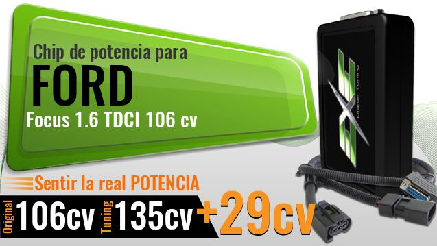 Chip de potencia Ford Focus 1.6 TDCI 106 cv