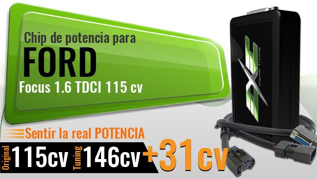 Chip de potencia Ford Focus 1.6 TDCI 115 cv
