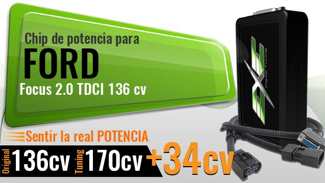 Chip de potencia Ford Focus 2.0 TDCI 136 cv