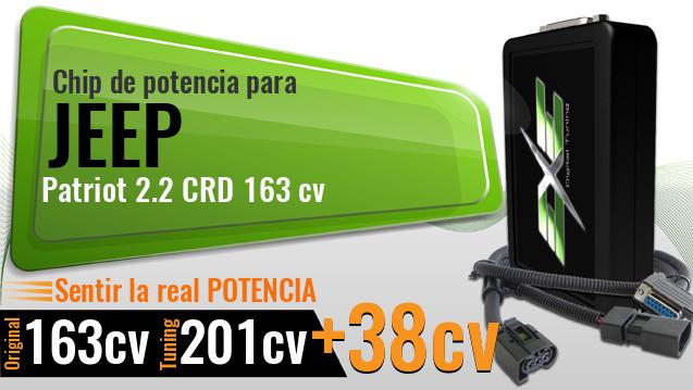 Chip de potencia Jeep Patriot 2.2 CRD 163 cv