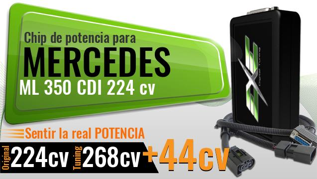 Chip de potencia Mercedes ML 350 CDI 224 cv