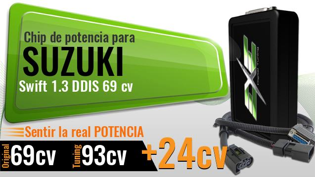 Chip de potencia Suzuki Swift 1.3 DDIS 69 cv