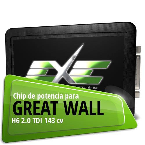 Chip de potencia Great Wall H6 2.0 TDI 143 cv