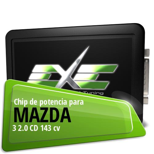 Chip de potencia Mazda 3 2.0 CD 143 cv